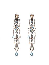 Lanvin Ginger Crystal Embellished Earrings 2622 Light Blue