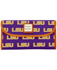 Dooney And Bourke Lsu Tigers Ncaa Large Continental Clutch Purple