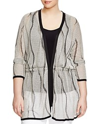 Marina Rinaldi Plus Miglio Metallic Drawstring Cardigan Black Multi