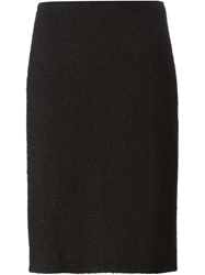 Chanel Vintage Boucle Pencil Skirt Black