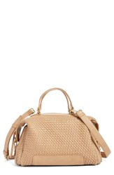 Sole Society Woven Faux Leather Satchel Brown Brown Saddle