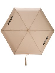 Moschino Couture Print Umbrella Neutrals