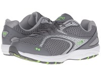 Ryka Dash 2 Steel Grey Chrome Silver Electric Lime Women's Shoes Gray