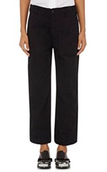 Comme Des Garcons Tricot Women's Cotton And Wool Relaxed Fit Trousers Black