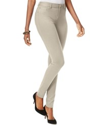 Inc International Concepts Skinny Fit Ponte Pants Toad Beige