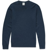 Hardy Amies Slim Fit Cashmere Sweater Blue