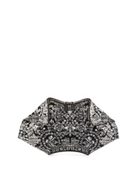Alexander Mcqueen De Manta Rhinestone Print Leather Clutch Bag