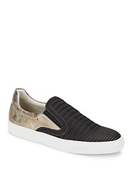 Bacco Bucci Dario Slip On Leather Sneakers Black
