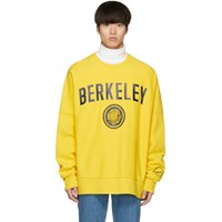 Calvin Klein 205W39nyc Yellow Berkeley Edition University Sweatshirt 730 Berkylw