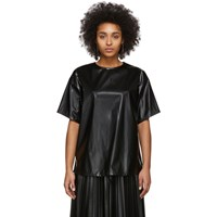 Maison Martin Margiela Mm6 Black Coated Zipped Blouse