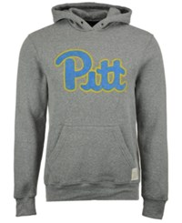 Retro Brand Men's Pittsburgh Panthers Tri Blend Fleece Hoodie Gray
