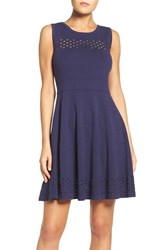 Chelsea 28 Women's Chelsea28 Knit Fit And Flare Dress Navy