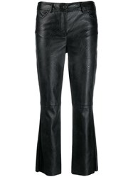 Aniye By Cropped Faux Leather Trousers Black