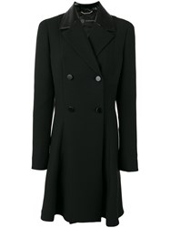 Versace Double Breasted Coat Black