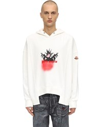 Moncler Genius Palm Angels Cotton Sweatshirt Hoodie White