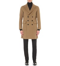 Burberry Double Breasted Cashmere Coat Camel