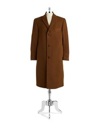 Lauren Ralph Lauren Long Wool And Cashmere Coat Brown