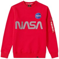 Alpha Industries Nasa Reflective Crew Sweat Red
