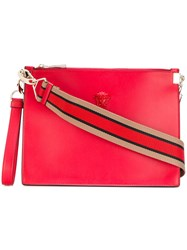 Versace Palazzo Medusa Wristlet Clutch Bag Red
