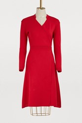Maison Ullens Midi Dress Red