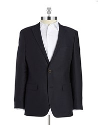 Black Brown Wool Blazer Navy