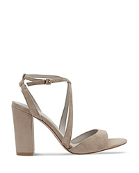 Reiss Strappy Sandals Jackson Block Heel Nude