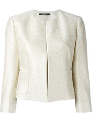 Tagliatore Cropped Jacket Nude And Neutrals