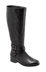 Trotters Liberty Tall Boot Black Leather