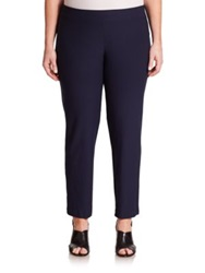 Eileen Fisher Plus Size Ponte Ankle Pants Midnight