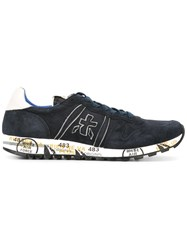 Premiata White 'Eric' Sneakers Blue