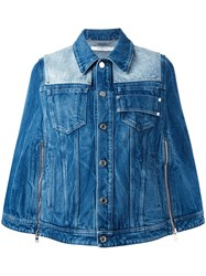Givenchy Short Denim Cape Blue