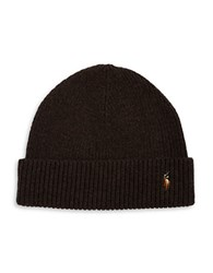 Polo Ralph Lauren Merino Wool Beanie Brown