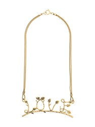 Moschino Vintage Love Necklace Gold
