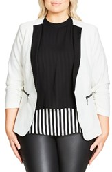 City Chic Plus Size Women's So Jacket Ivory