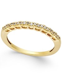 Macy's White Topaz Thin Band 1 5 Ct. T.W. In 18K Gold Vermeil