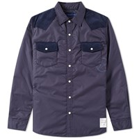 Denim By Vanquish And Fragment Western Padding Shirt Blue
