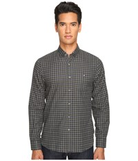 Todd Snyder Italian Heather Check Button Up Green Grey