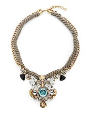 Saks Fifth Avenue Beaded Rope Necklace Gold