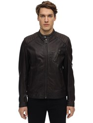 Belstaff V Racer 2.0 Tumbled Leather Jacket Dark Brown
