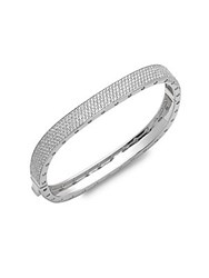 Saks Fifth Avenue Cubic Zirconia Bangle Bracelet Silver