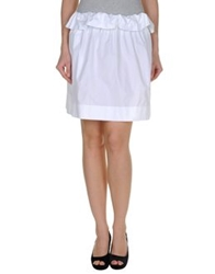 Chloe Knee Length Skirts White
