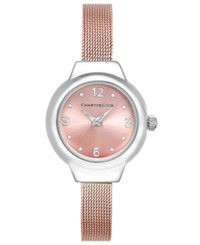 Charter Club Rose Gold Tone Mesh Bracelet Watch 25Mm Only At Macy's