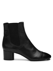 Isabel Marant Danae Leather Chelsea Boots Black