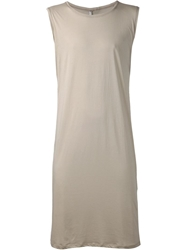 Todd Lynn Long Sleeveless Tank Top Nude And Neutrals