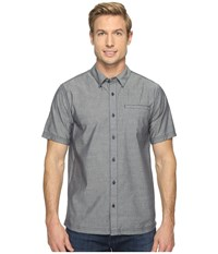 Smartwool Summit County Chambray Short Sleeve Dark Blue Men's Short Sleeve Button Up