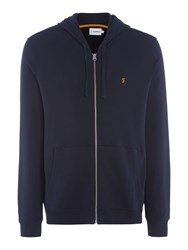 Farah Dale Regular Fit Zip Through Hoodie Navy