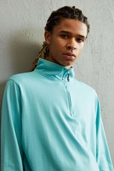 Columbia Harborside Half Zip Long Sleeve Shirt Turquoise