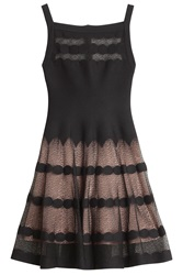 Azzedine Alaia Polka Dot Dress Black