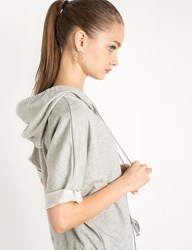 Pixie Market Sweatshirt Hooded Romper