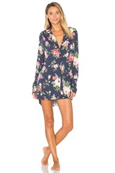 Wildfox Couture Gypsy Rose Shirt Dress Navy